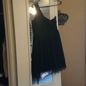 Xhilaration One Shoulder Black Cocktail Dress